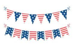 Милая овсянка США праздничная сигнализирует в традиционном идеале цветов как американское знамя праздников иллюстрация вектора