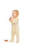 милая полная длина малыша смотря сторону портрета стоковые изображения rf