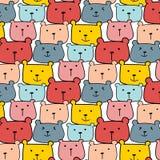 Милая предпосылка картины вектора медведей Doodle потехи Стоковое Изображение