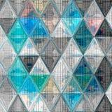 Милая предпосылка треугольника в светлых цветах небесно-голубых, белый, серый, заплатка влияния связала текстуру Стоковая Фотография