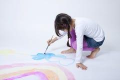 милая радуга картины девушки Стоковое фото RF