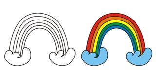 милая радуга Стоковые Фотографии RF