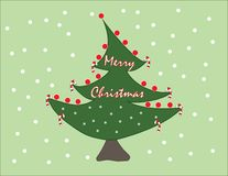 Милая рождественская елка для вашего вы друзья и семья иллюстрация штока