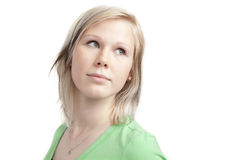 милая рубашка зеленого цвета девушки подростковая Стоковое Изображение RF