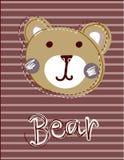 Милая смешная заплата стороны медведя, applique для украшения ягнится одежда Стоковое Изображение