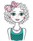 Милая смешная предназначенная для подростков девушка Стоковое Изображение RF