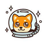 Милая собака космоса мультфильма иллюстрация штока