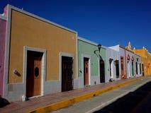 Милая улица в Кампече в Мексике стоковое фото rf