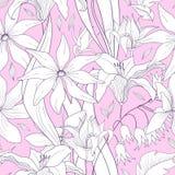 Милая флористическая безшовная картина с цветками Текстура для обоев иллюстрация вектора