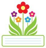 Милая флористическая рамка иллюстрация штока