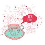 Милая чашка чая Стоковое фото RF