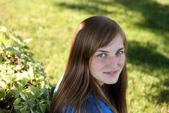 Милая девушка снаружи Стоковое Изображение RF