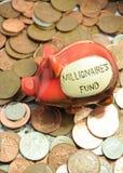 миллионер s фондом стоковая фотография rf