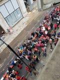 Миллион женщин поднимают марш и вновь собираются в центральном Лондоне стоковые фото