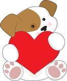милое Валентайн щенка Стоковые Изображения RF