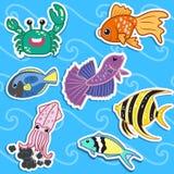 Милое животное моря stickers04 Стоковые Изображения