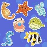 Милое животное моря stickers05 Стоковые Фотографии RF