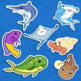 Милое животное моря stickers06 Стоковые Изображения