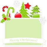 Милое знамя рождества Стоковое Изображение RF
