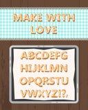 Милое изолированное печенье праздников алфавита шаржа вектора иллюстрация штока