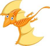 Милое и прелестное летание шаржа Pterodactyl иллюстрация штока