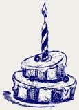 Милое пирожне иллюстрация штока