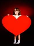 милое сердце девушки Стоковая Фотография