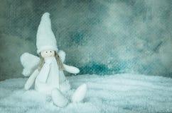 Милое снежное украшение ангела Стоковые Фотографии RF