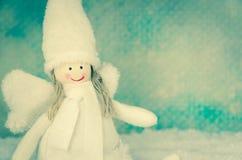 Милое снежное украшение ангела Стоковое фото RF