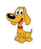 Милое усаживание собаки щенка Бесплатная Иллюстрация