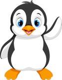 Милое усаживание шаржа пингвина младенца Стоковая Фотография RF