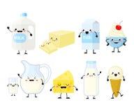 Милое isola иллюстрации вектора характеров молочных продучтов мультфильма стоковое изображение