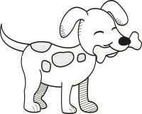 Милой стиль косточки укусов собаки нарисованный рукой Стоковое Изображение