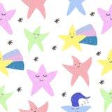 мило звезды Мотивация Скандинавский тип открытка Яркий дизайн детей s иллюстрация вектора
