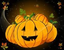 мило halloweeen тыквы иллюстрация штока