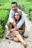 Милые азиатские пары Стоковая Фотография