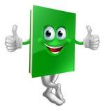 Милые большие пальцы руки вверх по зеленому характеру книги Стоковая Фотография RF