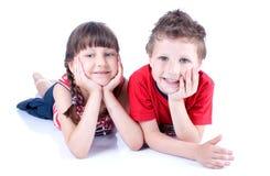 Милые голубоглазые дети играют Стоковые Фото