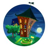 милые дома меньшяя ноча Стоковое Изображение