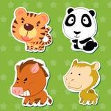 Милые животные стикеры 06 Стоковое Изображение