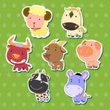 Милые животные стикеры 08 Стоковые Изображения