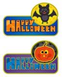 Милые знаки хеллоуина Стоковая Фотография RF