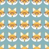 Милые лисы шаржа Стоковое Фото