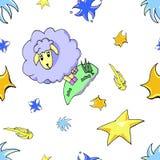 Милые овцы младенца шаржа бесплатная иллюстрация