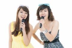 Милые певицы Стоковое Фото