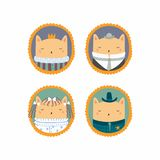Милые портреты котов иллюстрация вектора