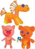 милые ручной работы мягкие игрушки Стоковая Фотография RF