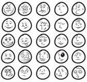 милые смешные усмешки комплекта Стоковое фото RF