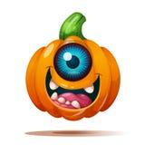 Милые, смешные, шальные характеры тыквы ноча луны иллюстрации halloween бесплатная иллюстрация