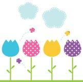 Милые тюльпаны сада весны иллюстрация вектора